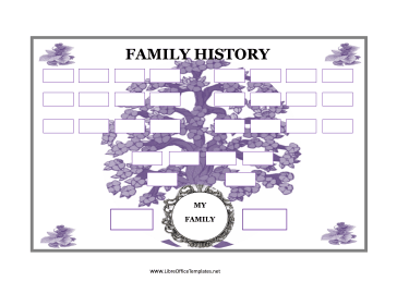 Family Tree with Purple Flowers